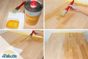 Holztisch pflege anleitung zum reinigen und len for Tisch ölen