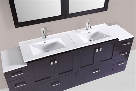 2 sink bathroom vanity 84 quot redondo espresso double modern bathroom vanity with 2