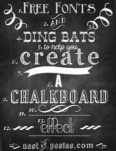Free chalkboard fonts dingbats photoshop not required for Chalkboard font generator