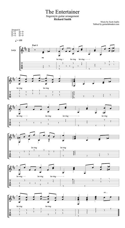 Entertainer easiest piano sheet music english edition. Richard Smith - The Entertainer fingerstyle guitar tab - pdf guitar sheet music - guitar pro tab ...