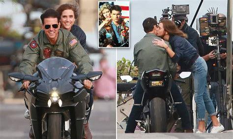 tom cruise  recreates iconic top gun motorbike scene