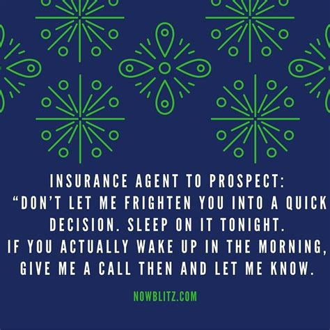 To get started with a life insurance quote we would need some basic information. 10 Sales Jokes to Cut The Tension on the Sales Floor - Blitz Sales Software