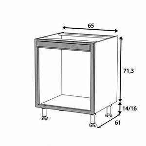 Meuble Cuisine Four : meuble cuisine four bas 65cm 1 cadre four 65x71 achat ~ Teatrodelosmanantiales.com Idées de Décoration