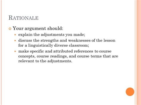 lesson plan adjustment rationale youtube