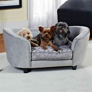Enchanted home pet quicksilver pet sofa dog beds at for At home dog beds
