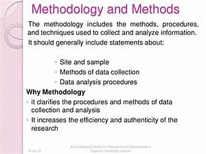 what should a methodology include