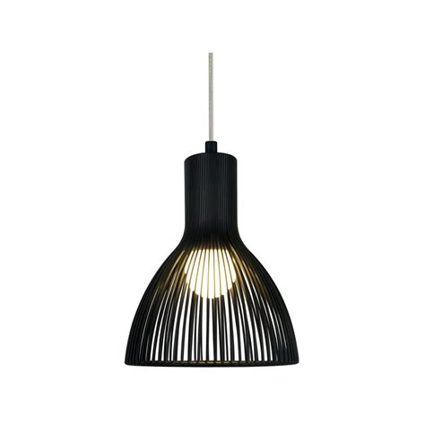 insulated black ceiling pendant light with a drop