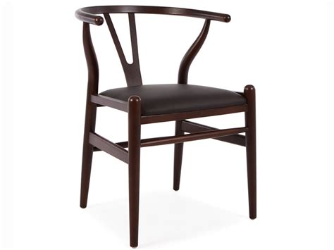 wegner wishbone chair y brown black