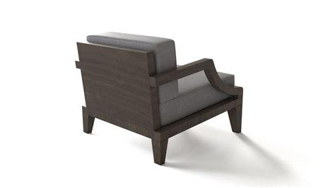 Wooden Base Armchair