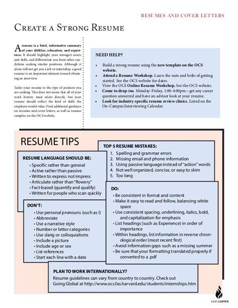 lean career resumes cover leters tips