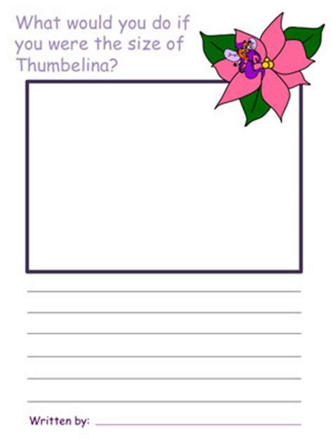 thumbelina draw and write activities 912 | draw write thumbelina
