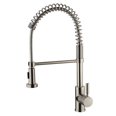 kitchen faucet nickel yosemite home decor single handle pull out sprayer