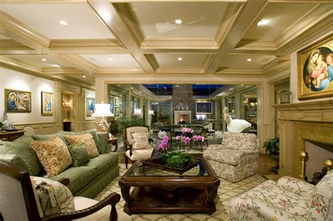 Sophisticated Ceiling Lamps Over Luxurious Formal Living