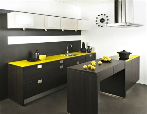 cuisine jaune et noir tendance quelle couleur est la plus rependue