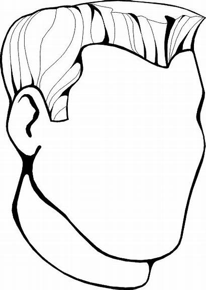 Blank Coloring Head Face Pages Faces Clipart
