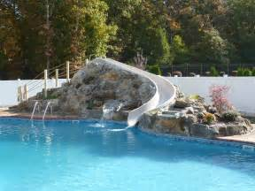 Pool Rock Waterfalls with Slides