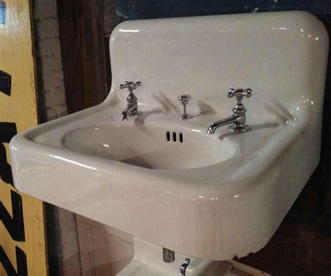 vintage porcelain kitchen sink all plumbing portland architectural salvage 6857