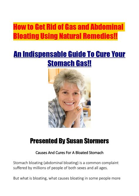 Getting Rid Of Stomach Gas By Susan Stormers Issuu