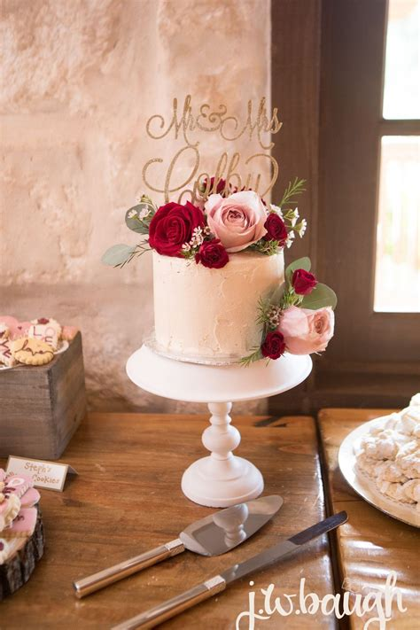 Small Bohemian Wedding Cake One Layer Round Wedding