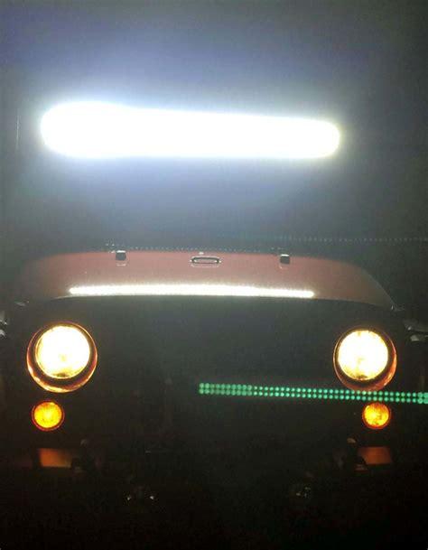 jeep light bar at night wrangler jk raxiom light bar installation night testing