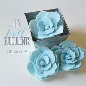 Make Faux Succulents out of Felt The DIY Mommy