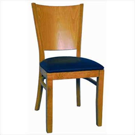 curved solid back wood chair millennium seating usa