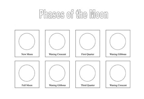 Blank Moon Phases Worksheet Worksheets For All  Download And Share Worksheets  Free On