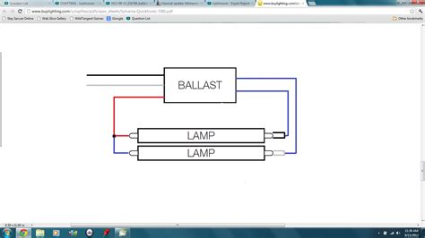 Fluorescent T12 Ballast Wiring by 2 Ballast Wiring Diagram Schematic Diagrams