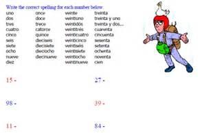 Free Printable Spanish Number Worksheets