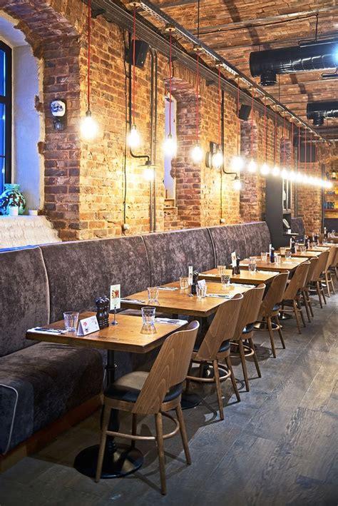 brick cuisine exposed brick restaurant design restaurant furniture and cool lighting