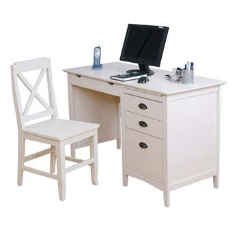 furniture123 maine white computer desk and chair set