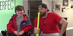 The guys from Dude Perfect and Make a Wish equals smiles
