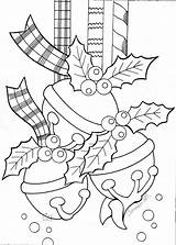 Coloring Bell Jingle Ornaments sketch template
