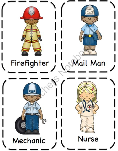 11541 community helpers pictures printables preschool printables community helpers preschool