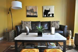 nice safari african themed lounge in jungle themed living room