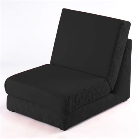 black fold out z bed single chair 1 seat chair guest bed