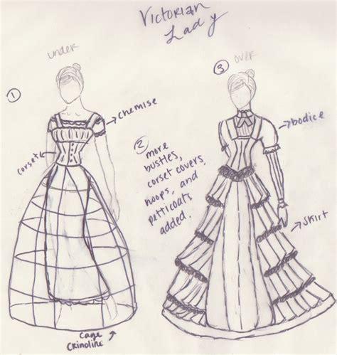How To Draw A Victorian Boy by Victorian Dress And Crinoline By Ellen1193 On Deviantart