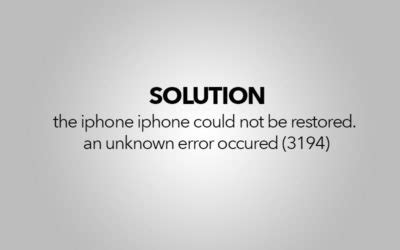 the iphone could not be restored 3194 windows mac p t it computer repair laptops