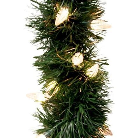 ge 18 ft holiday classics artificial garland with 50 c6
