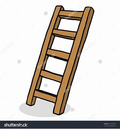 Ladder Cartoon Stair Wooden Stairs Clipart Illustration