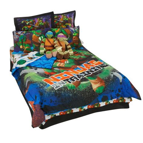 Turtle Toddler Bed Set by Mutant Turtles Boys Comforter And Sheet