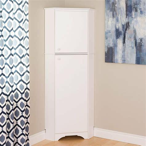 Corner Bathroom Storage Cabinets by Prepac 72 Inch 2 Door Corner Storage Cabinet In Elite