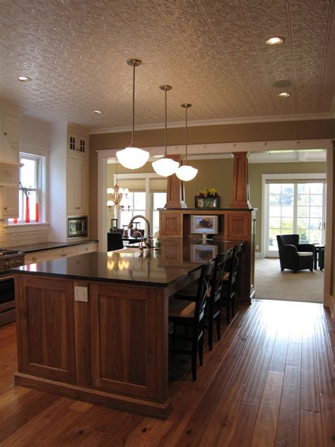 Innovative schoolhouse lighting in Kitchen Traditional