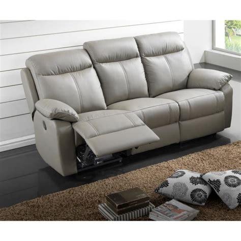 largeur canapé 3 places canapé cuir relax électrique 3 places gris quot jupiter