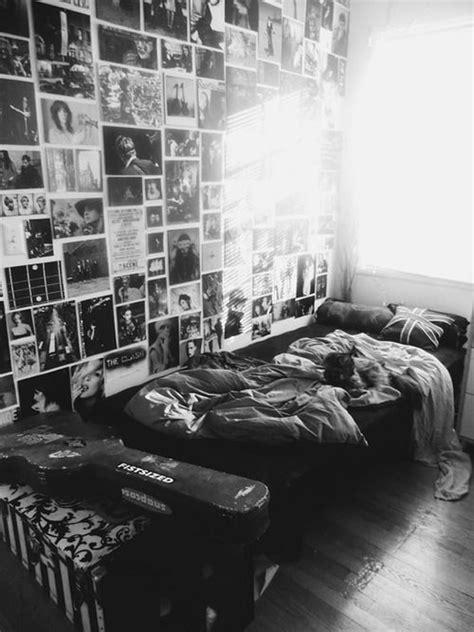 black  white grunge bedroom decoration homemydesign