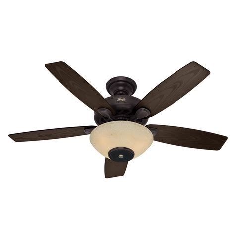 lowes ceiling fans with lights and remote shop hunter concert breeze 52 in new bronze outdoor