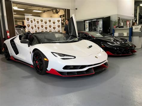 exclusive  lamborghini centenarios delivered