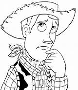 Coloring Cowboy Pages Coloringpages1001 Toy Story sketch template
