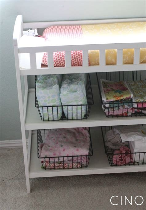 nursery changing table ideas wire baskets in changing table nursery ideas pinterest wire baskets changing tables and