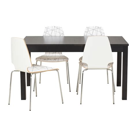 ikea dining table and chairs bjursta vilmar table and 4 chairs ikea